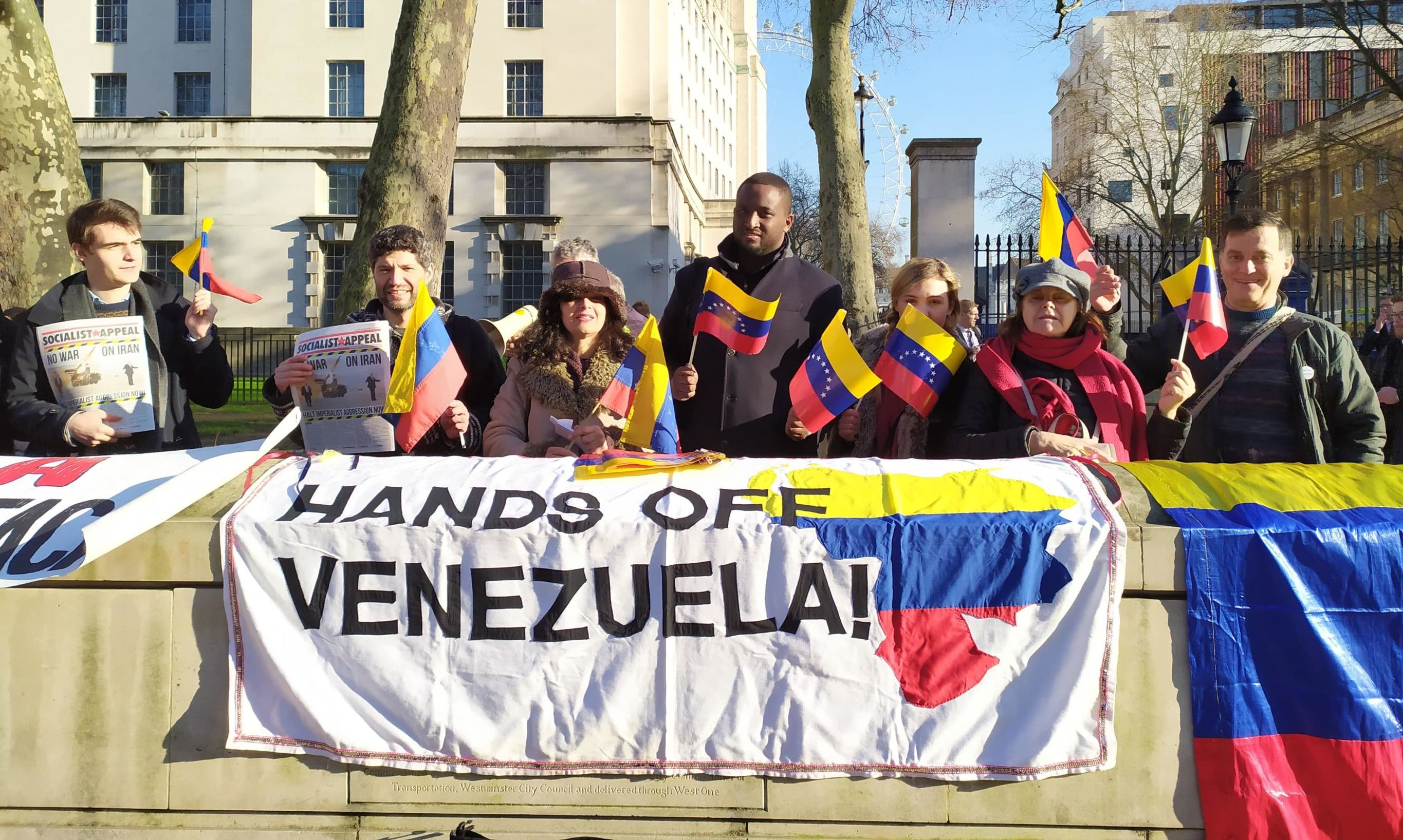 Guaido demo London Image Mohamed Elmaazi