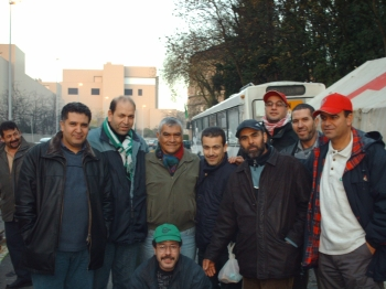 Linares with Moroccan workers