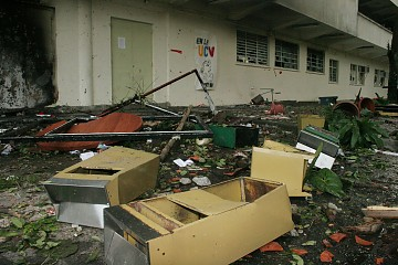 The School of Social Work trashed by opposition students (ABN)