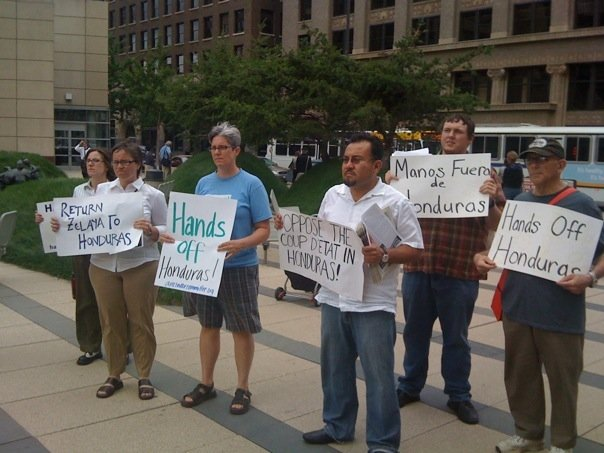 Minneapolis protest against Honduran coup